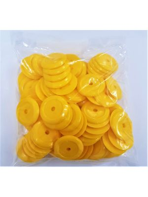 Yellow Plastic Washers (100)