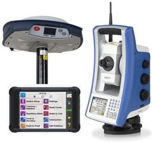 combined total station and gps